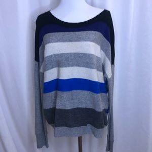 DianeVon Furstenberg wool/cashmere striped sweater